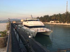 Outing pulau sangiang boat catamaran